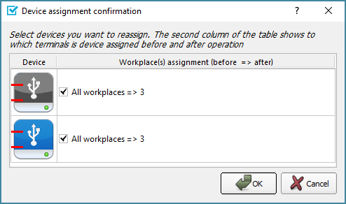Dialog box will open to choose the hub to assign to the workplace