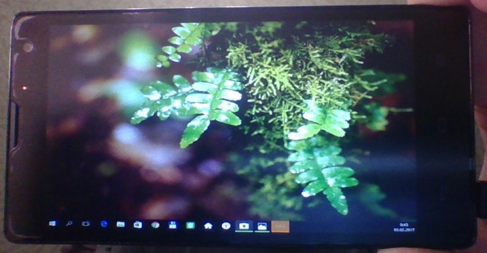 Display desktop on smartphone