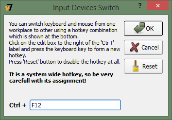 Setting hotkeys for switching input devices