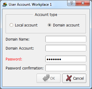 Login with a domain account