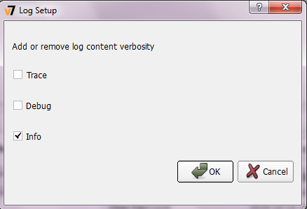 Log Setup dialog box